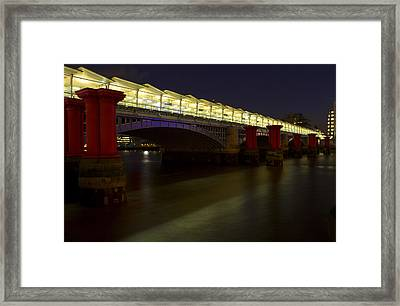 Blackfriars Railway Bridge Framed Print by David French