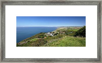 Blackgang And Chale Bay Panorama Framed Print by Rod Johnson