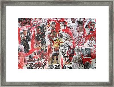 Blackhawks Collage Framed Print by John Sabey Jr