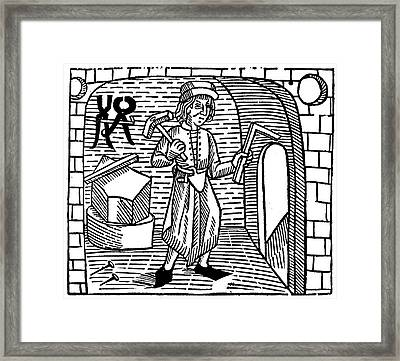 Blacksmith, 1483 Framed Print by Granger