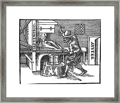 Blacksmith, Magnetic Forces, 17th Framed Print by Science Source