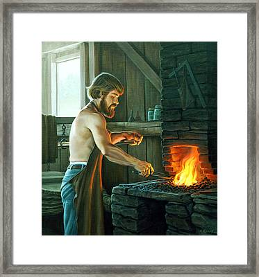 Blacksmith Framed Print by Paul Krapf