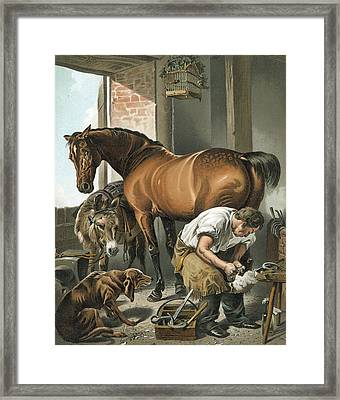 Blacksmith Framed Print by Sir Edwin Landseer