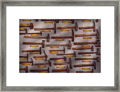 Blacksmith - Tools - Pounding Headache  Framed Print by Mike Savad