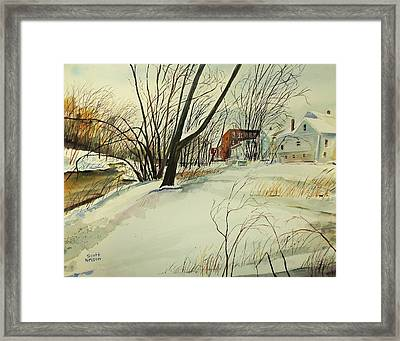 Blackstone River Snow  Framed Print by Scott Nelson