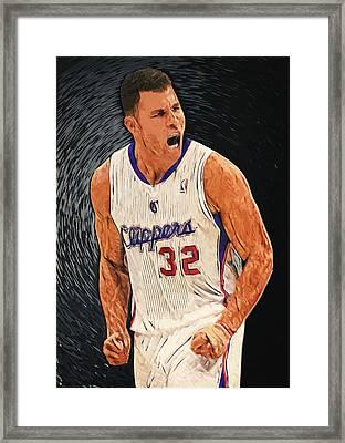 Blake Griffin Framed Print by Taylan Soyturk