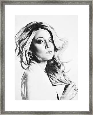 Blake Lively Framed Print by Michael Durocher