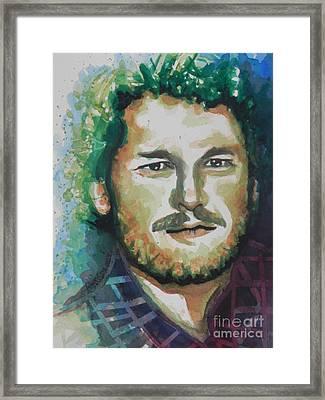 Blake Shelton  Country Singer Framed Print by Chrisann Ellis