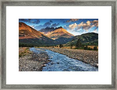 Blakiston Creek Framed Print by Mark Kiver