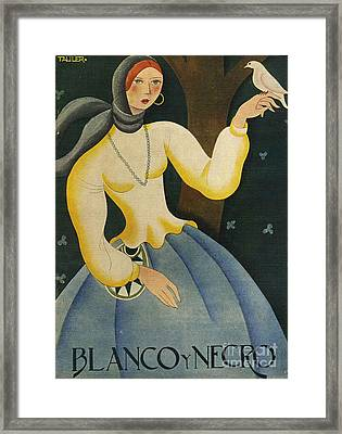 Blanco Y Negro  1930 1930s Spain Cc Framed Print by The Advertising Archives