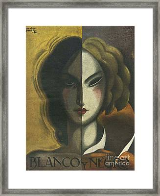 Blanco Y Negro 1930 1930s Spain Framed Print by The Advertising Archives