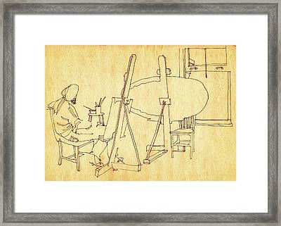 Blank Canvas Framed Print by Dale Michels