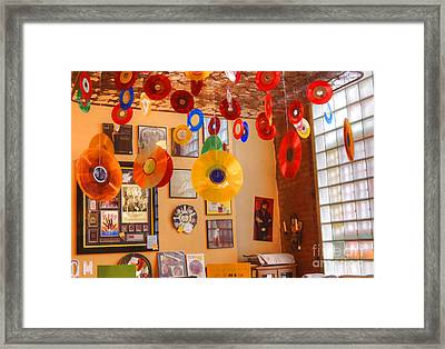 Blast From The Past - Vinyl Records Framed Print by Liane Wright