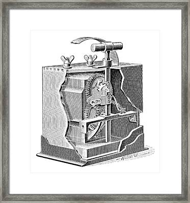 Blasting Trigger Mechanism, Artwork Framed Print by Science Photo Library