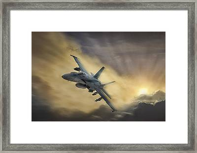 Blazing Hornet Framed Print by Peter Chilelli