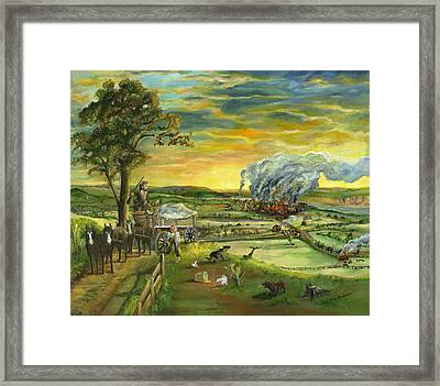 Bleeding Kansas - A Life And Nation Changing Event Framed Print by Mary Ellen Anderson
