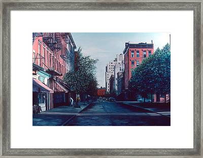 Bleeker Street Framed Print by Anthony Butera