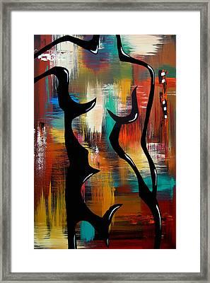 Blender - Original Abstract Art By Fidostudio Framed Print by Tom Fedro - Fidostudio
