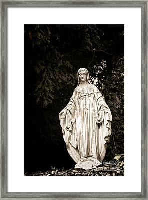 Blessed Virgin Mary Framed Print by Olivier Le Queinec