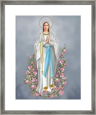 Blessed Virgin Framed Print by Valer Ian
