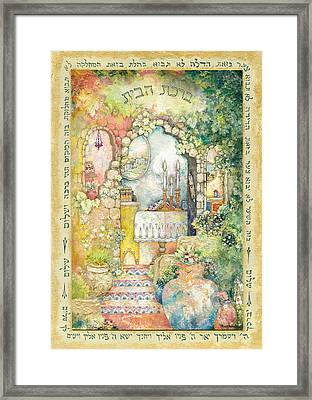Blessing For The Home Framed Print by Michoel Muchnik