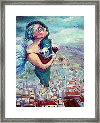 Blessing Over The Wine Framed Print by Elisheva Nesis
