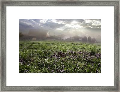 Blessings For The Farm Framed Print by Debra and Dave Vanderlaan