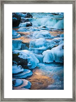 Blewett Pass Creek Framed Print by Inge Johnsson