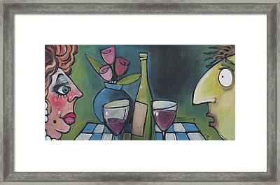 Blind Date With Wine Framed Print by Tim Nyberg