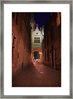 Blind Donkey Alley Framed Print by Adam Romanowicz