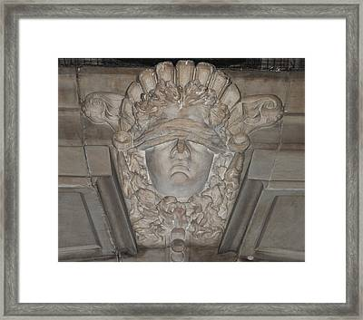 Blind Justice Framed Print by Bill Cannon