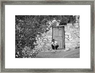Blind Man And His House Framed Print by Ilker Goksen