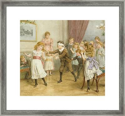 Blind Mans Buff Framed Print by George Goodwin Kilburne