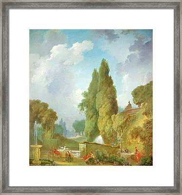 Blind Mans Buff Framed Print by Jean-Honore Fragonard