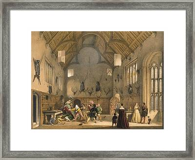 Blind Mans Buff, Played In Athelhampton Framed Print by Joseph Nash