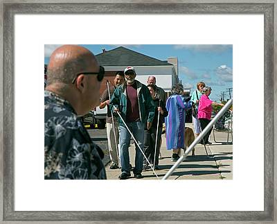 Blind Protesters Framed Print by Jim West