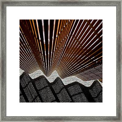 Blind Shadows Abstract I I I Framed Print by Kirsten Giving