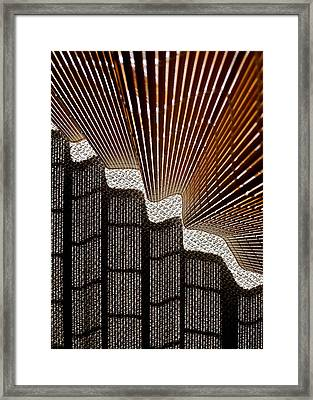 Blind Shadows Abstract I Framed Print by Kirsten Giving