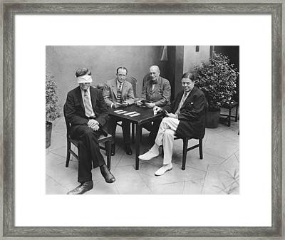 Blindfold Bridge Framed Print by Underwood Archives