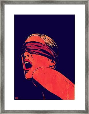 Blindfolded Framed Print by Giuseppe Cristiano