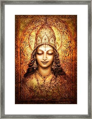 Blissful Goddess Framed Print by Ananda Vdovic