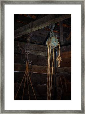 Block And Tackle Framed Print by Thomas Hall Photography