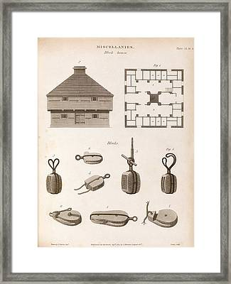 Block House And Blocks Framed Print by Middle Temple Library
