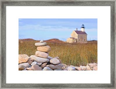 Block Island North Light Framed Print by Katherine Gendreau