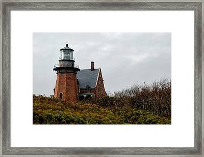 Block Island Southeast Lighthouse Framed Print by Nancy  de Flon