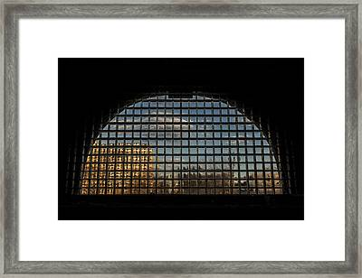 Block View Framed Print by CJ Schmit
