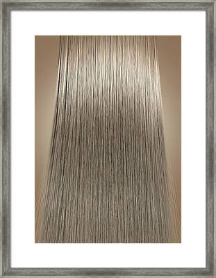 Blonde Hair Perfect Straight Framed Print by Allan Swart