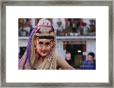 Blonde Nymph At The Santa Prisca Parade Framed Print by Linda Queally