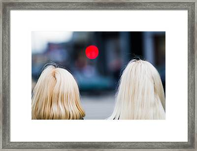 Blondes Are Not Allowed Framed Print by Alexander Senin