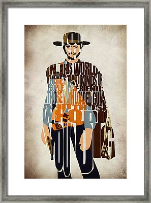 Blondie Poster From The Good The Bad And The Ugly Framed Print by Ayse Deniz